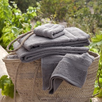 Bath Towel Set Savina pearl grey
