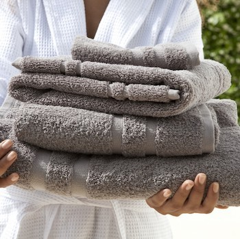 Guest Towel Set Laurel pearl grey
