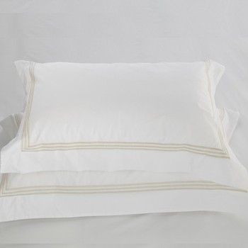 Tailored Standard pillowcase white & almond Elba