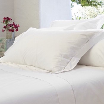 Tailored king pillowcase white Saria