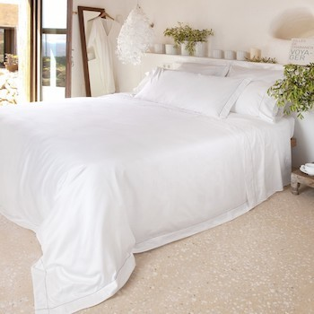 Super King quilt cover white & stone Tremiti