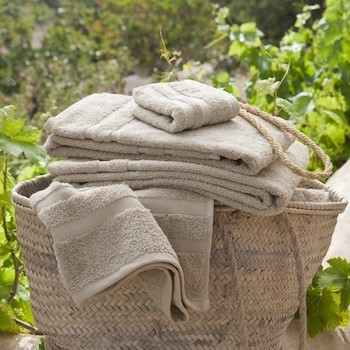 Bath Towel Set Savina noisette