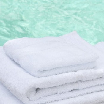 Face Towel Cassis white