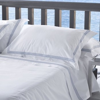Tailored Standard pillowcase white & sky Elba