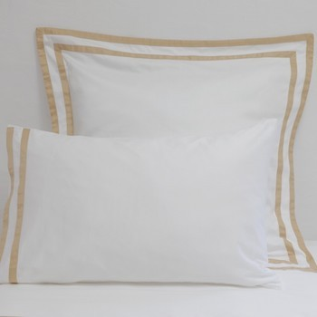 Standard pillowcase Set white & honey Formentera