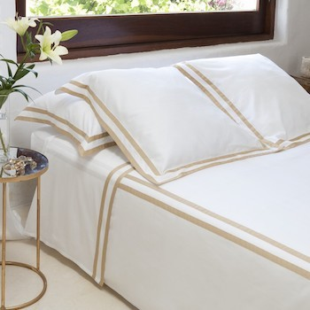 Tailored Standard pillowcase white & honey Formentera