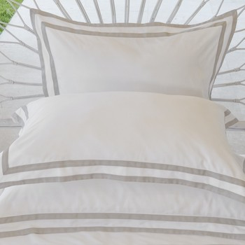 Tailored Standard pillowcase white & ash Formentera