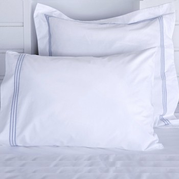Standard pillowcase Set white & sky Elba
