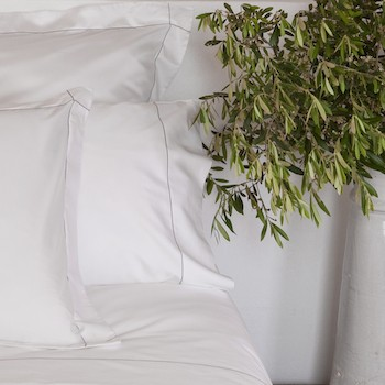 Standard pillowcase Set white & stone Tremiti