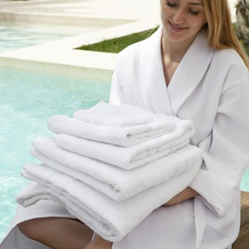 Guest Towel Set Laurel white