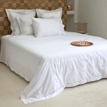 Double quilt cover white & caramel Tremiti