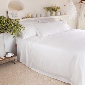 Super king sheet set white & stone Tremiti