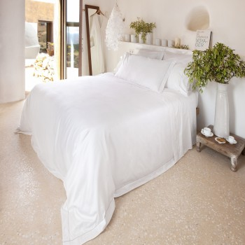 Extra wide pillowcase white & stone Tremiti