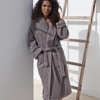 Terry Robe Vadella pearl grey - L/XL