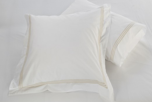 Standard pillowcase Set white & almond Elba