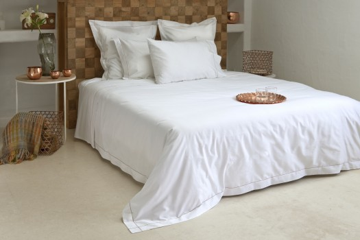 Queen quilt cover white & caramel Tremiti